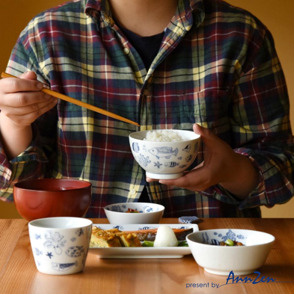natural 69|日本波佐見燒 日式飯碗-魚群