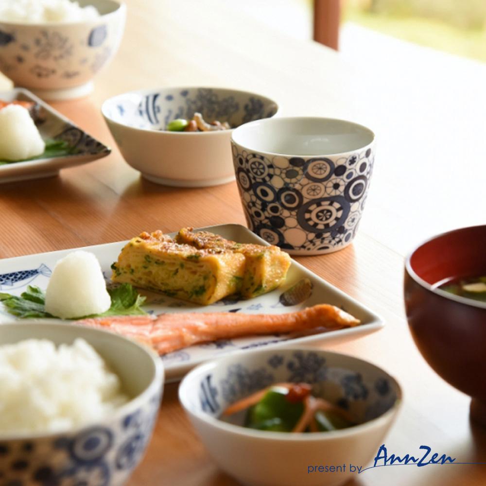 natural 69|日本波佐見燒 日式扁碗-魚群