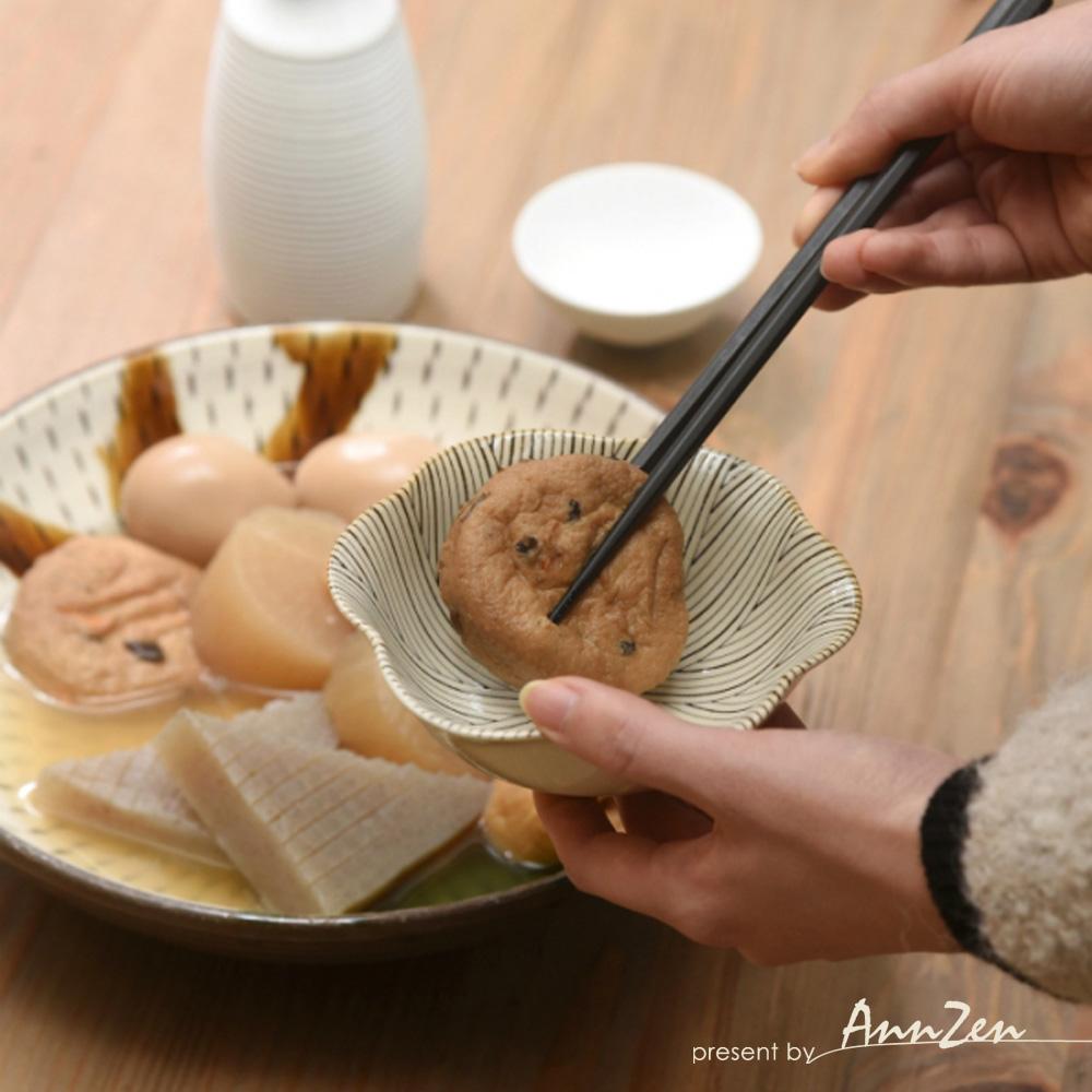 natural 69 日本波佐見燒 日式六方押小缽盤-羽根