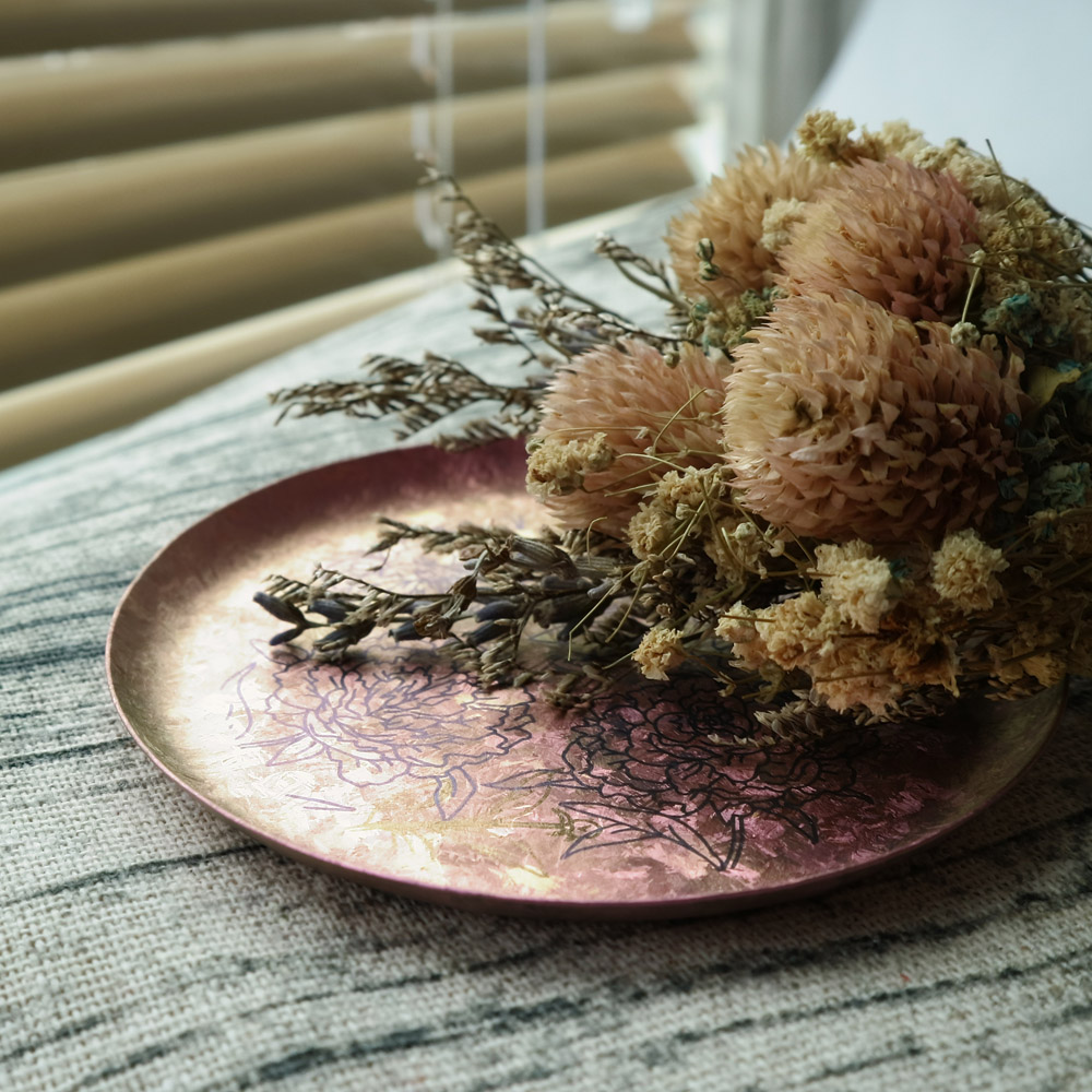 日本HORIE|鈦愛地球系列-日本製 純鈦香氛盤 富貴牡丹