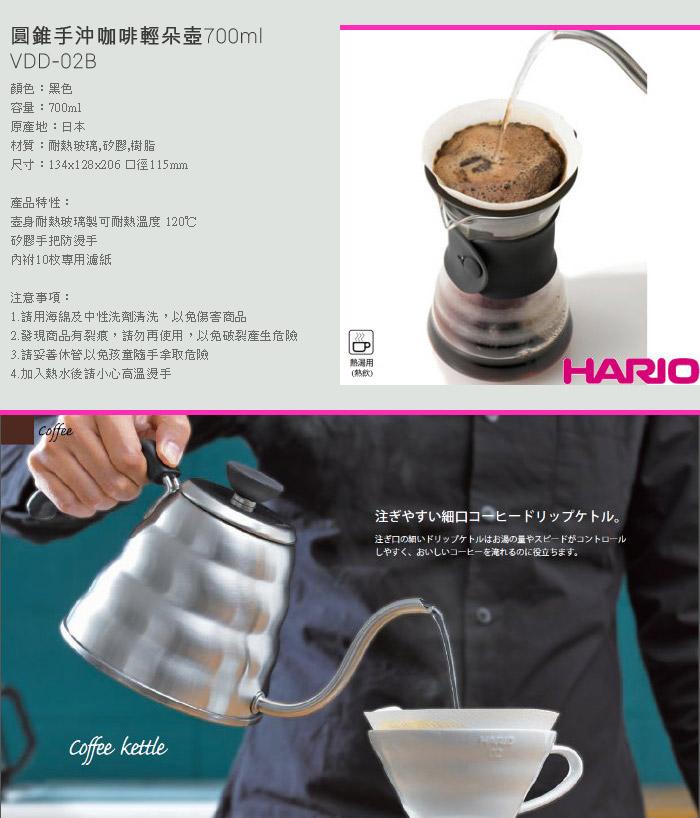 (複製)【HARIO】V60黑色01玻璃濾杯1~2杯 VDG-01B