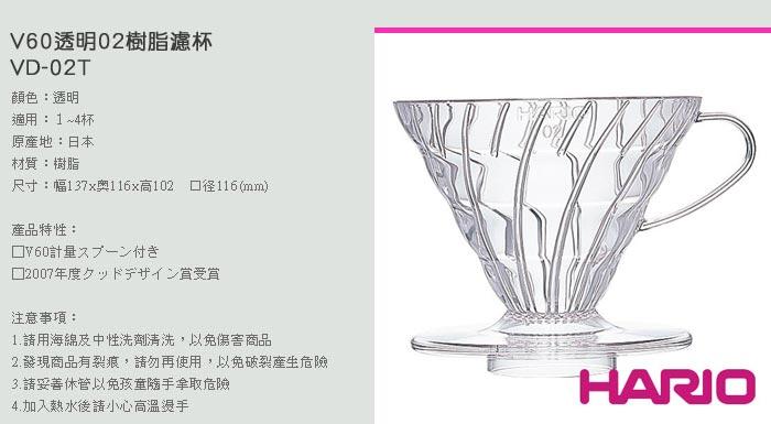 (複製)【HARIO】V60白色02樹脂濾杯1~4杯 VD-02W