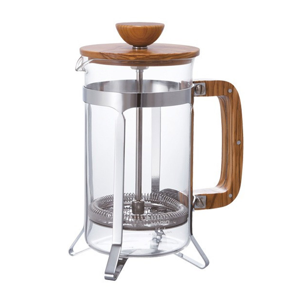HARIO|橄欖木濾壓咖啡壺600ml CPSW-4-OV