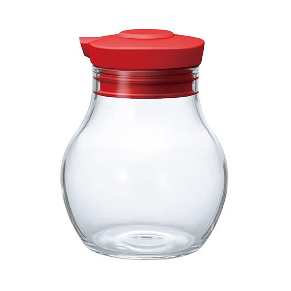 HARIO|酒紅按壓式調味罐120 OMPS-120-R 120ml