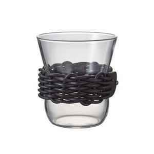 HARIO x i ro se 黑色皮革藤編咖啡杯300ml HCF-8-LZB