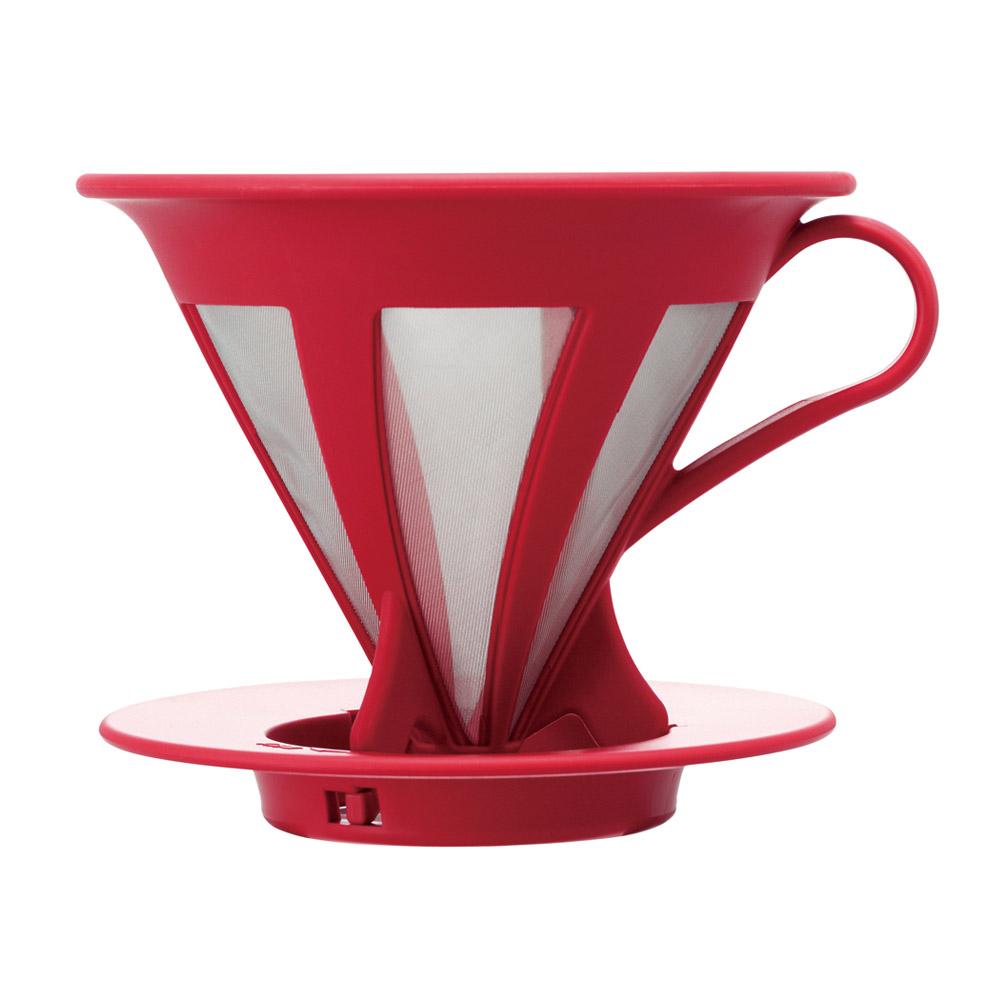 HARIO|V60免濾紙紅色濾杯  CFOD-02R
