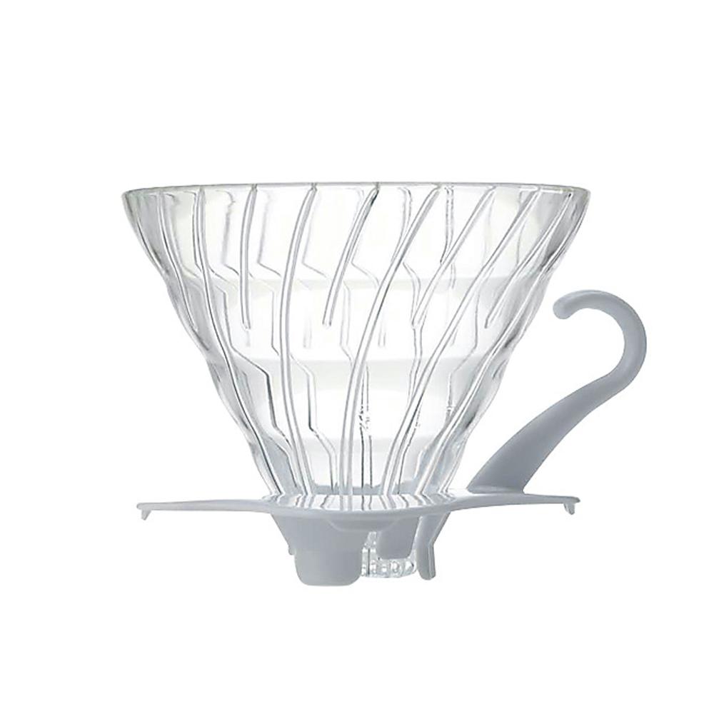 HARIO|V60白色02玻璃濾杯1~4杯 VDG-02W