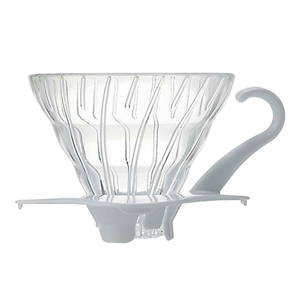 HARIO|V60白色01玻璃濾杯1~2杯/ VDG-01W
