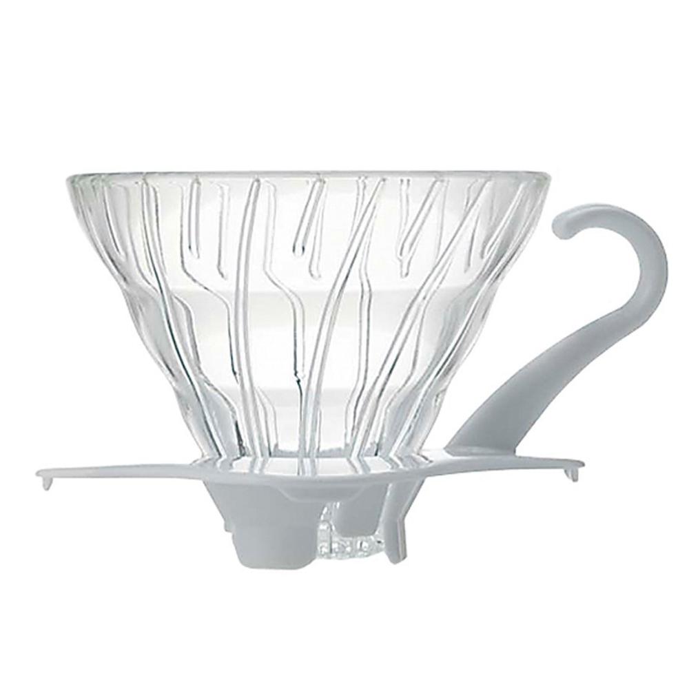 HARIO V60白色01玻璃濾杯1~2杯/ VDG-01W