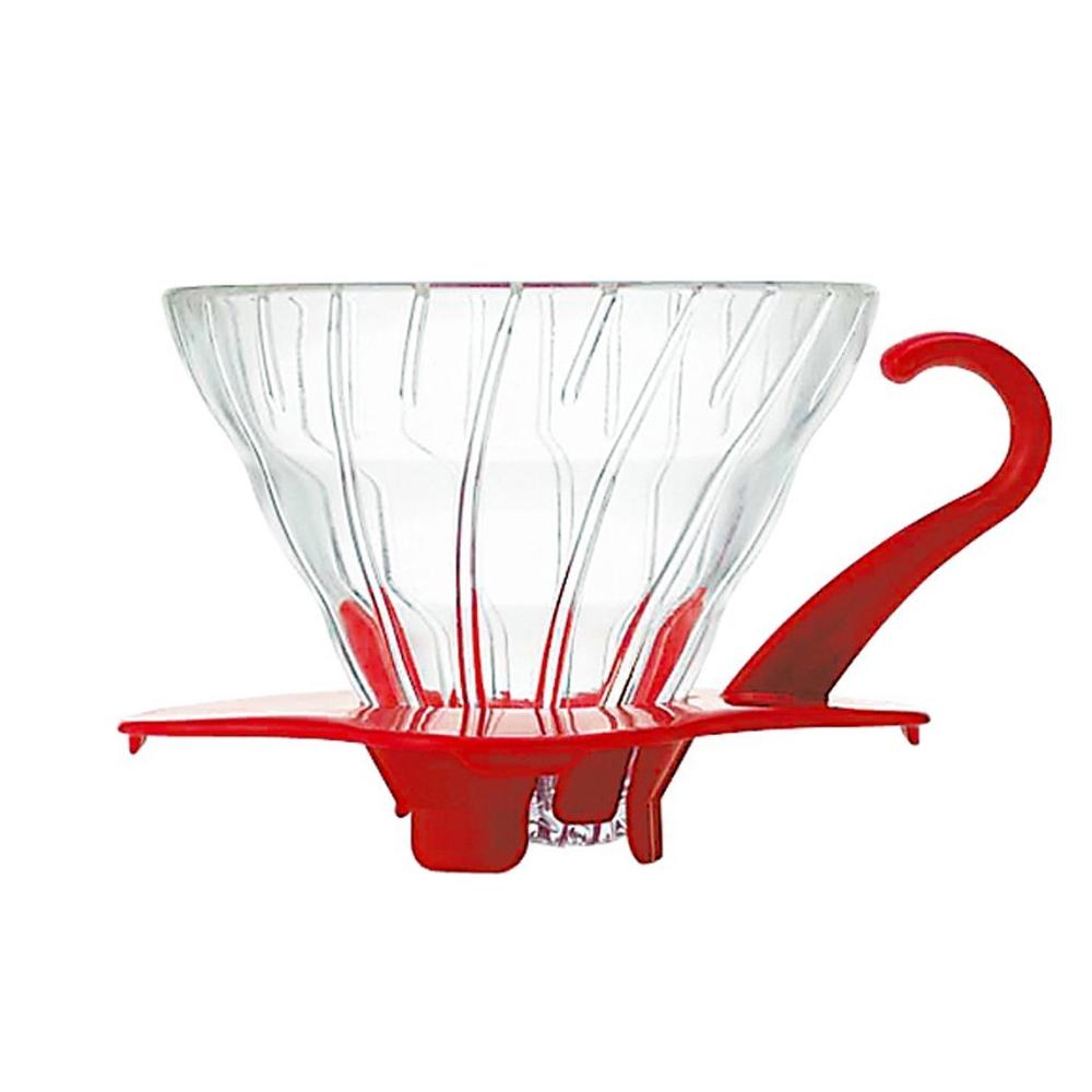 HARIO|V60紅色01玻璃濾杯1~2杯 VDG-01R