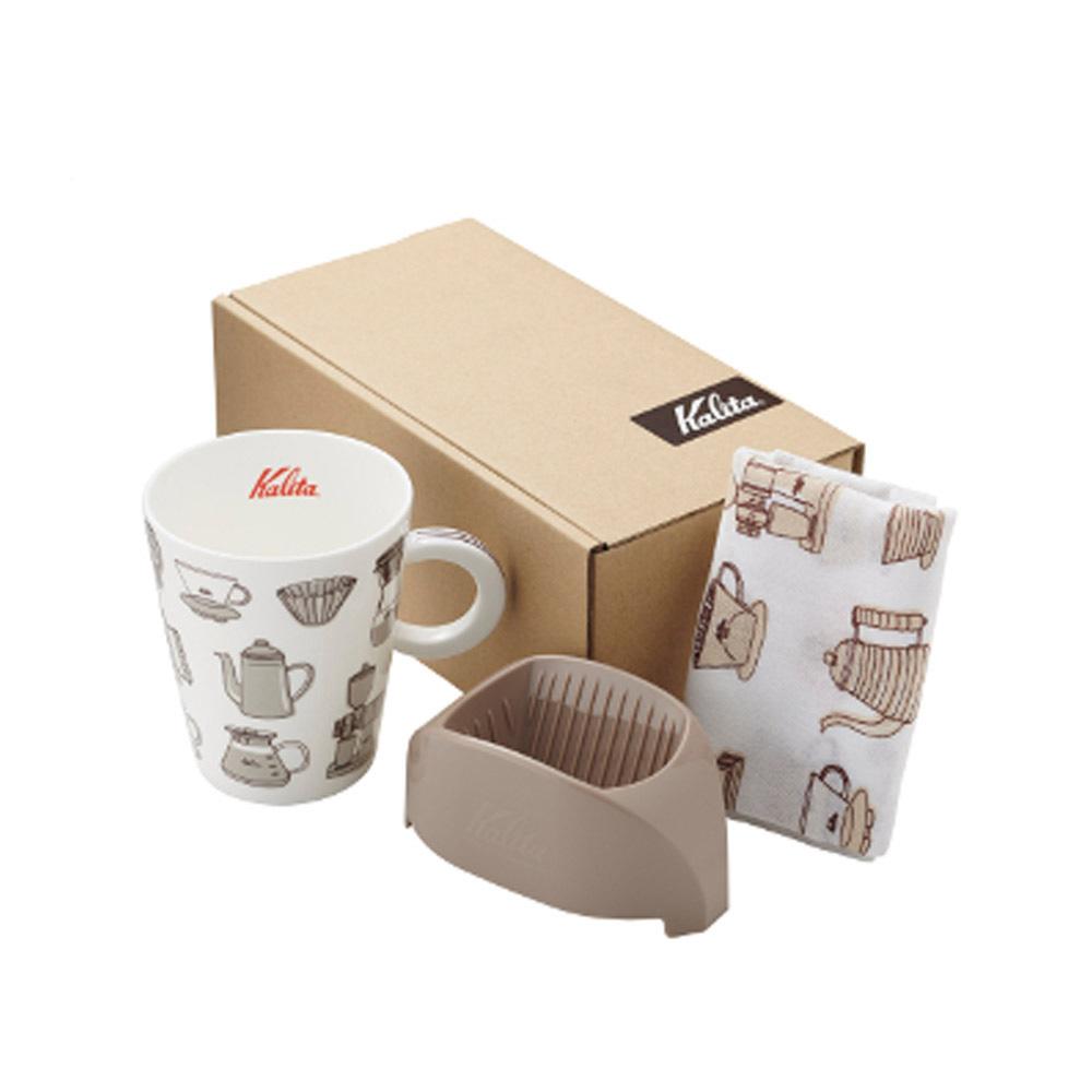 KALITA|咖啡馬克濾杯組合(咖啡棕) #73115