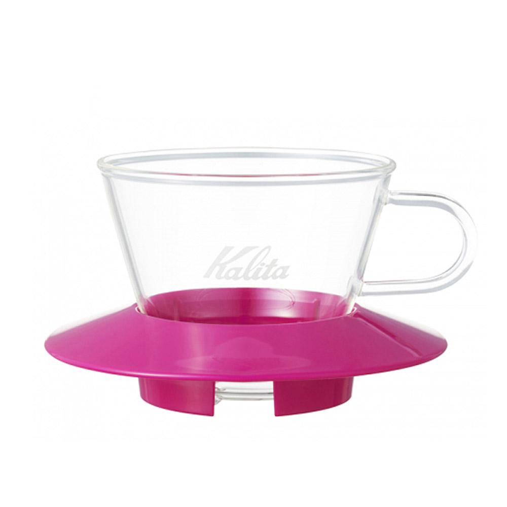 KALITA|155系列蛋糕型玻璃濾杯(櫻花粉) #05060