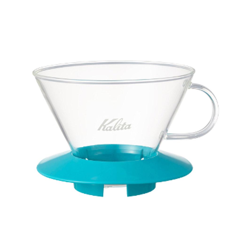 KALITA|185系列蛋糕型玻璃濾杯(薄荷綠) #05069