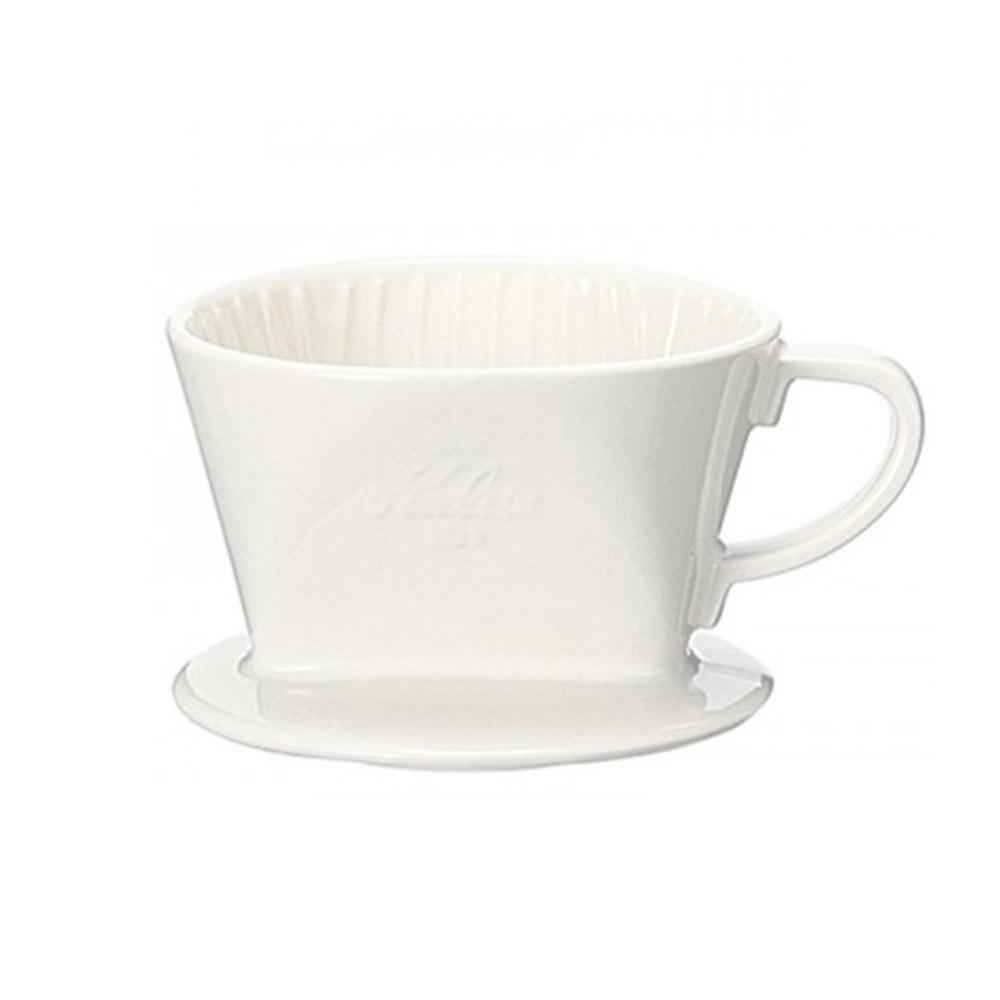 KALITA|101系列傳統陶製三孔濾杯(簡約白) #01001