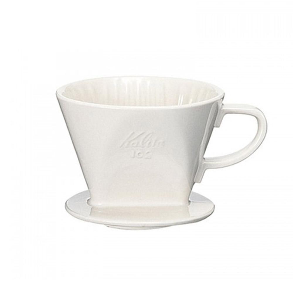 KALITA|102系列傳統陶製三孔濾杯(簡約白) #02001