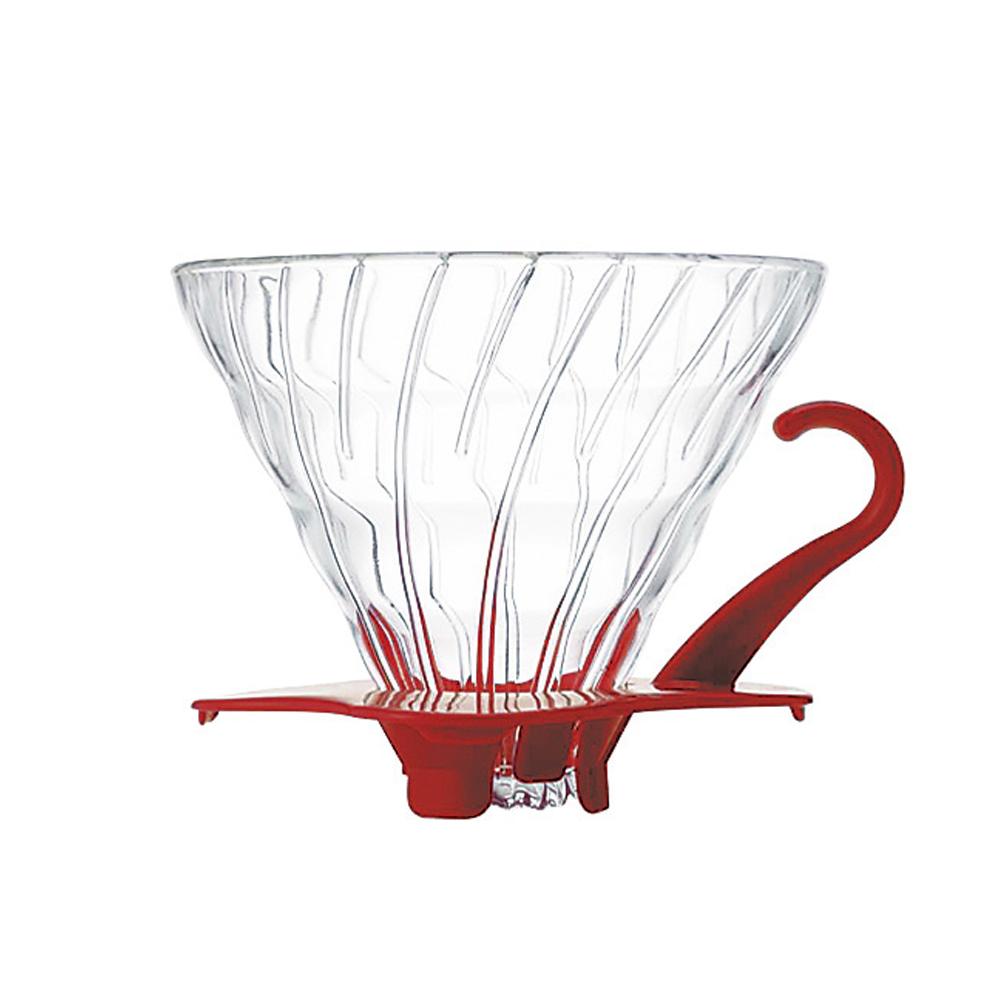 HARIO|V60紅色02玻璃濾杯1~4杯 VDG-02R