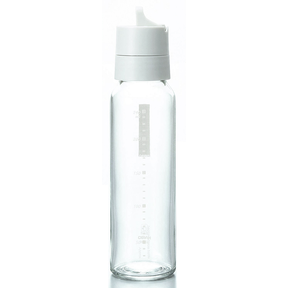 HARIO|簡約按壓式白色調味罐240ml ODB-240-PGR