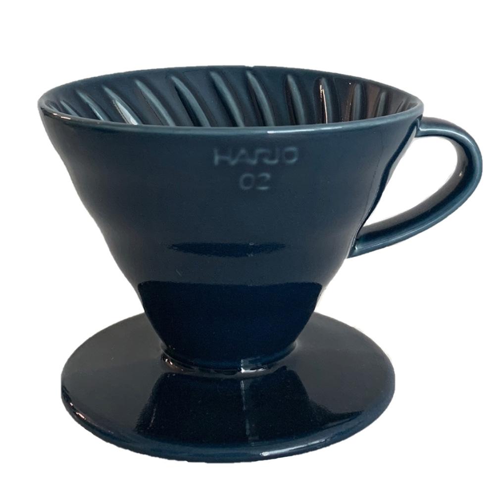 HARIO|V60藏青藍02彩虹磁石濾杯 VDC-02-IBU-TW