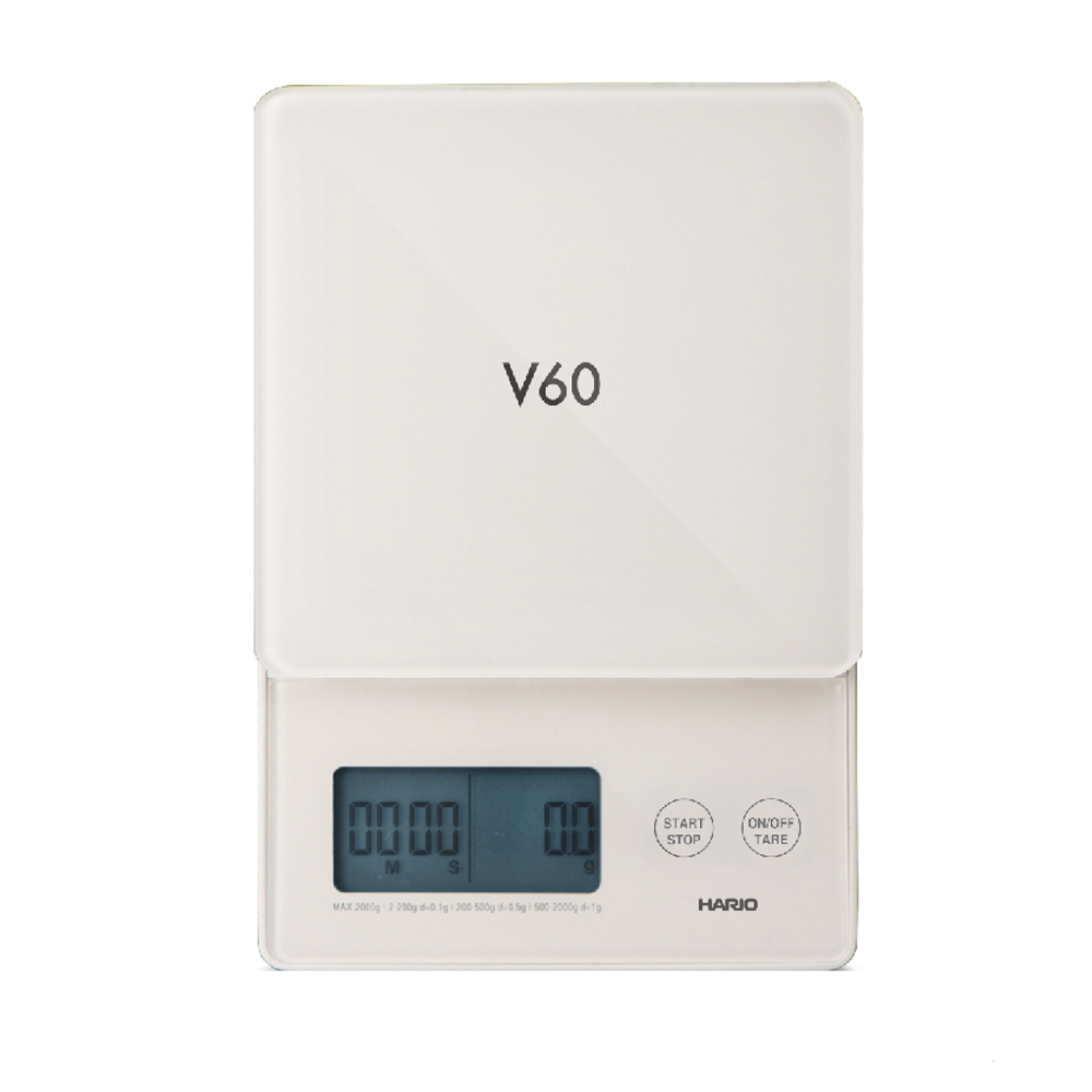 HARIO|V60琉璃白電子秤/ VSTG-2000W-TW