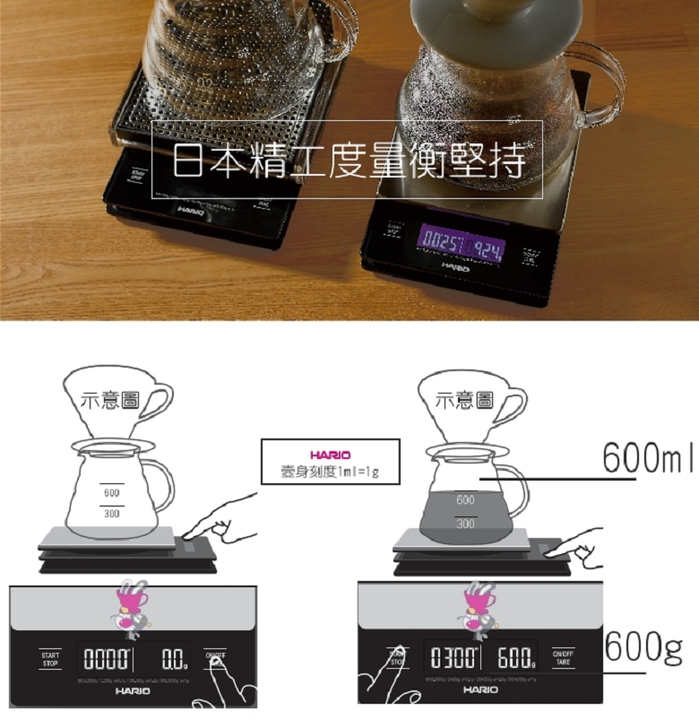 HARIO|霧白充電式打果汁器 ESJ-300-W