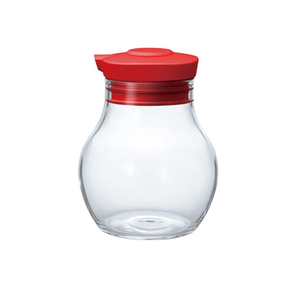 HARIO 按壓式調味罐120酒紅  OMPS-120-R