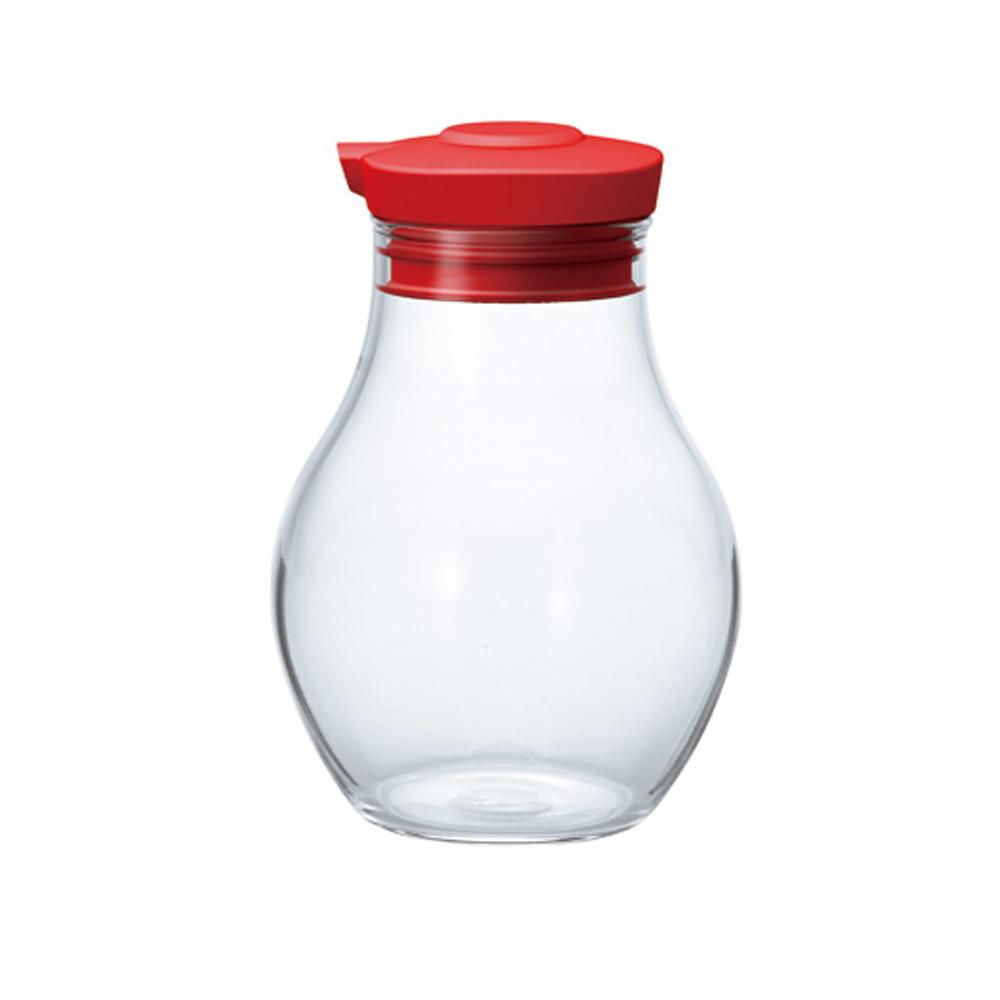 HARIO 按壓式調味罐180酒紅 OMPS-180-R