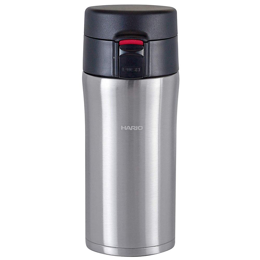 HARIO|雙層不鏽鋼銀色隨身瓶 /VSM-35HSV