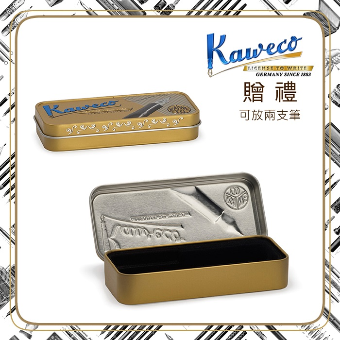 德國 Kaweco|CLASSIC Sport 系列鋼筆 鋼琴黑 F