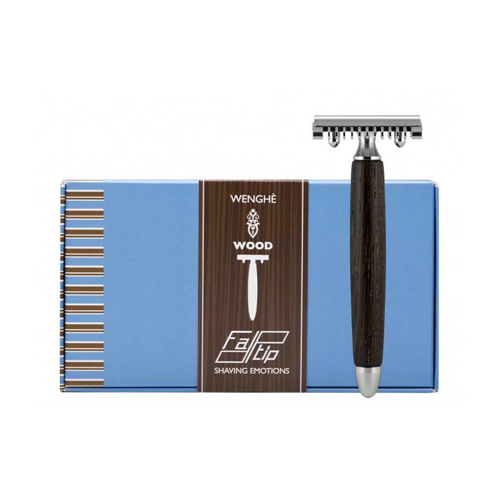 義大利 FATIP | 42112 非洲紅木安全刮鬍刀 開放刀頭
