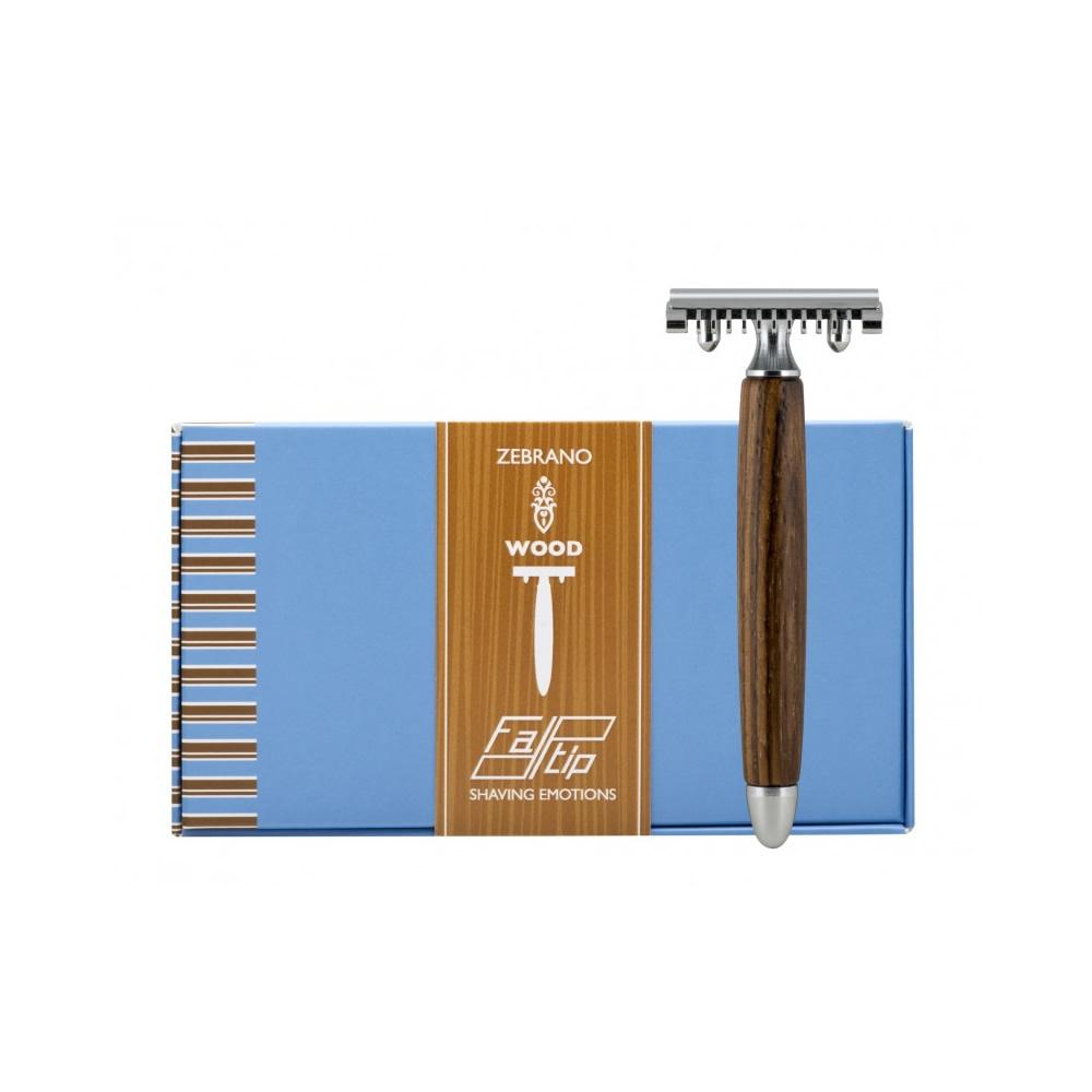 義大利 FATIP | 42113 木柄安全刮鬍刀 開放刀頭