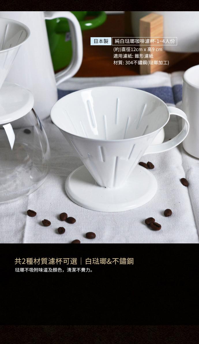 +O家窩|悶蒸十五手沖咖啡濾杯架組(咖啡濾架+濾杯)