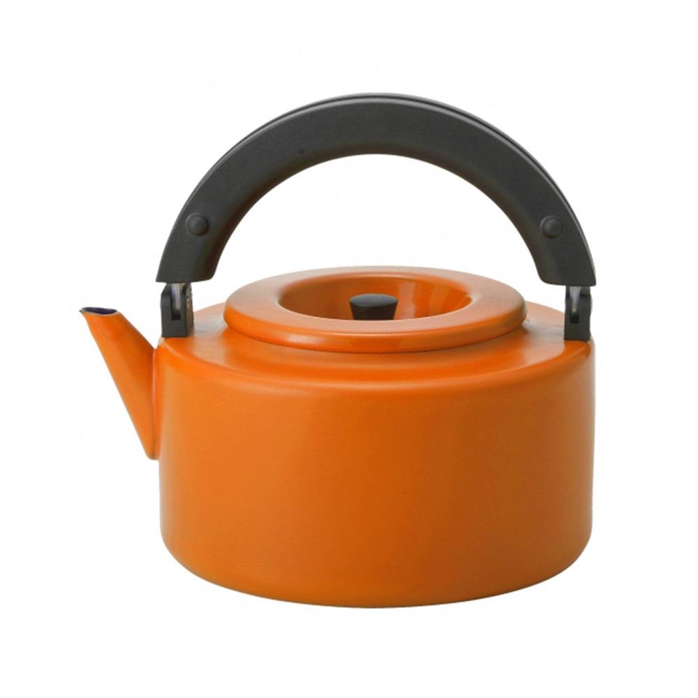 CB Japan|北歐系列琺瑯泡茶兩用壺 - 微笑橘