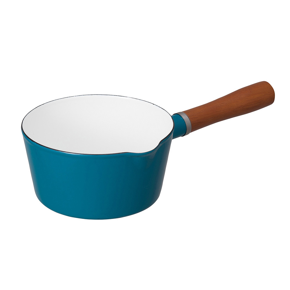 CB Japan|北歐系列琺瑯原木單柄牛奶鍋 - 土耳其藍