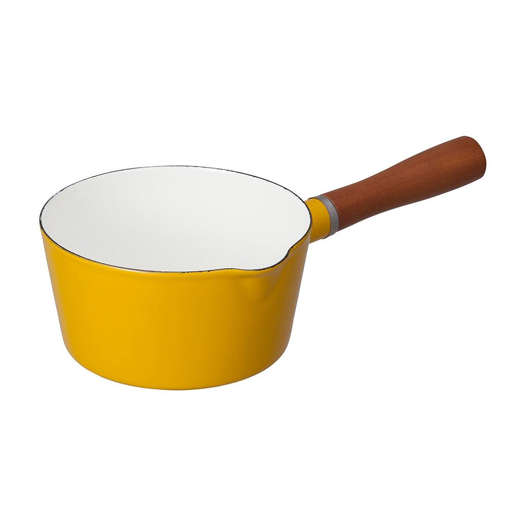 CB Japan|北歐系列琺瑯原木單柄牛奶鍋 - 芥末黃