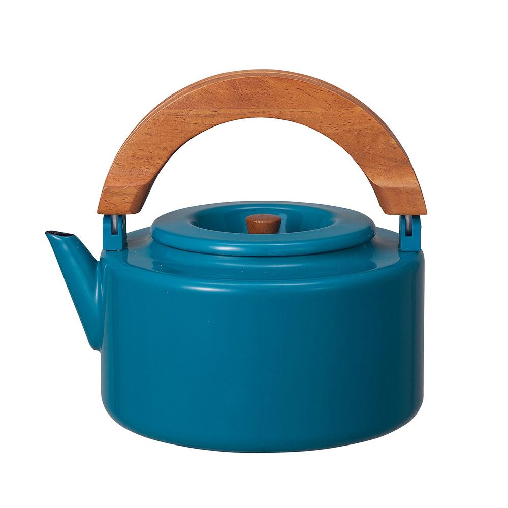 CB Japan|北歐系列琺瑯原木泡茶兩用壺 - 土耳其藍