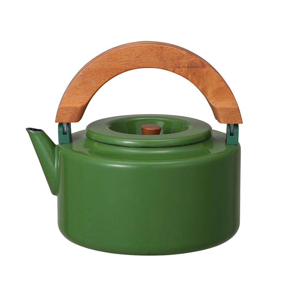 CB Japan|北歐系列琺瑯原木泡茶兩用壺 - 森林綠