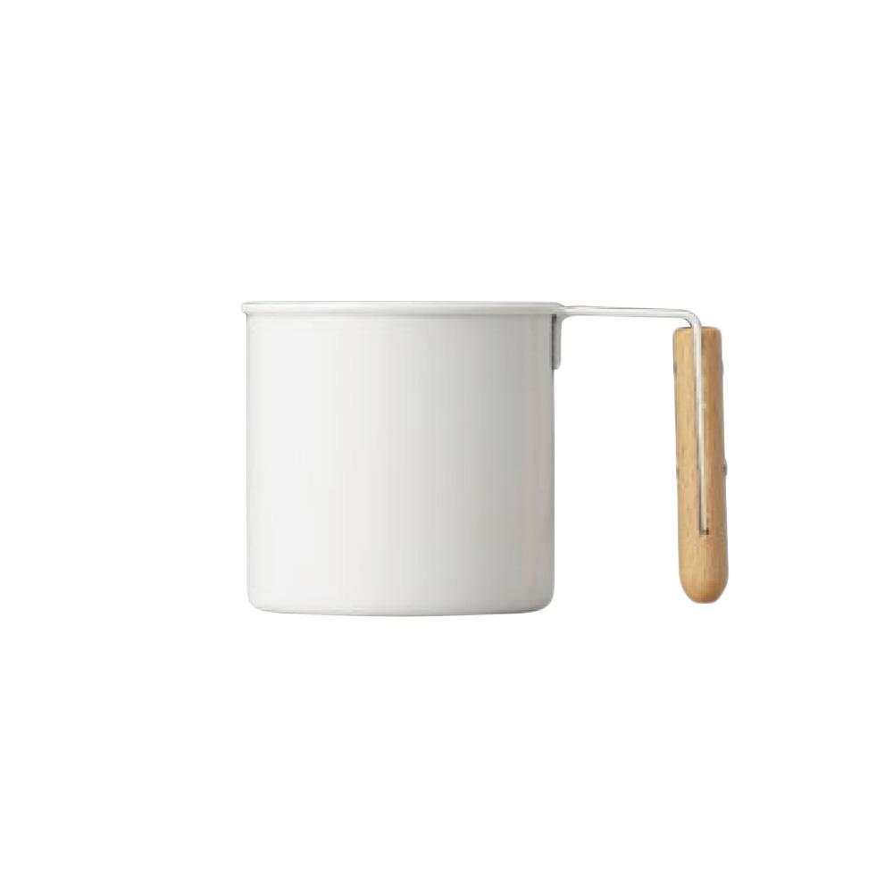 高桑elfin 木把白琺瑯馬克杯-180ml