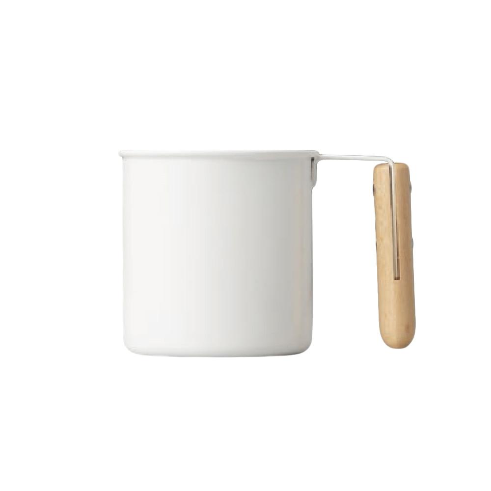 高桑elfin|木把白琺瑯馬克杯-250ml