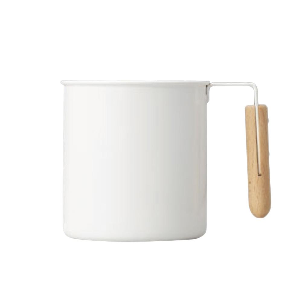 高桑elfin|木把白琺瑯馬克杯-550ml
