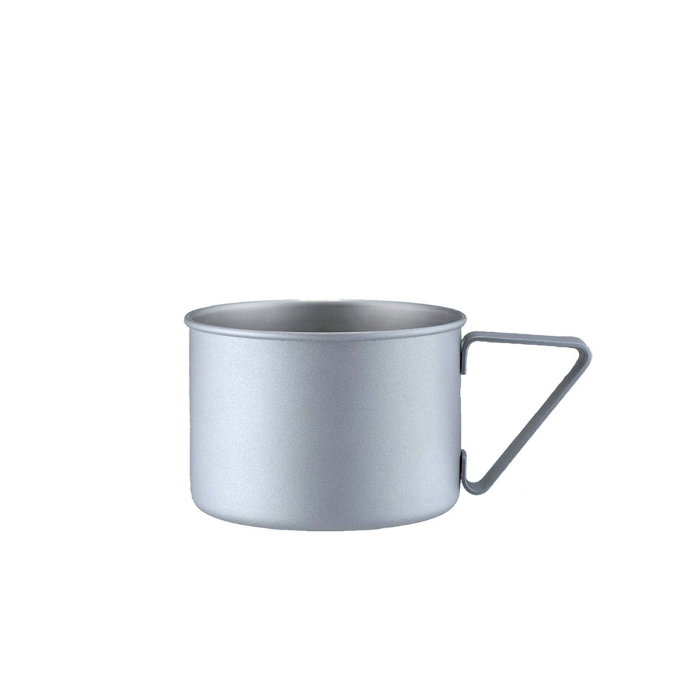 高桑elfin 露營野餐馬克杯370ml-銀