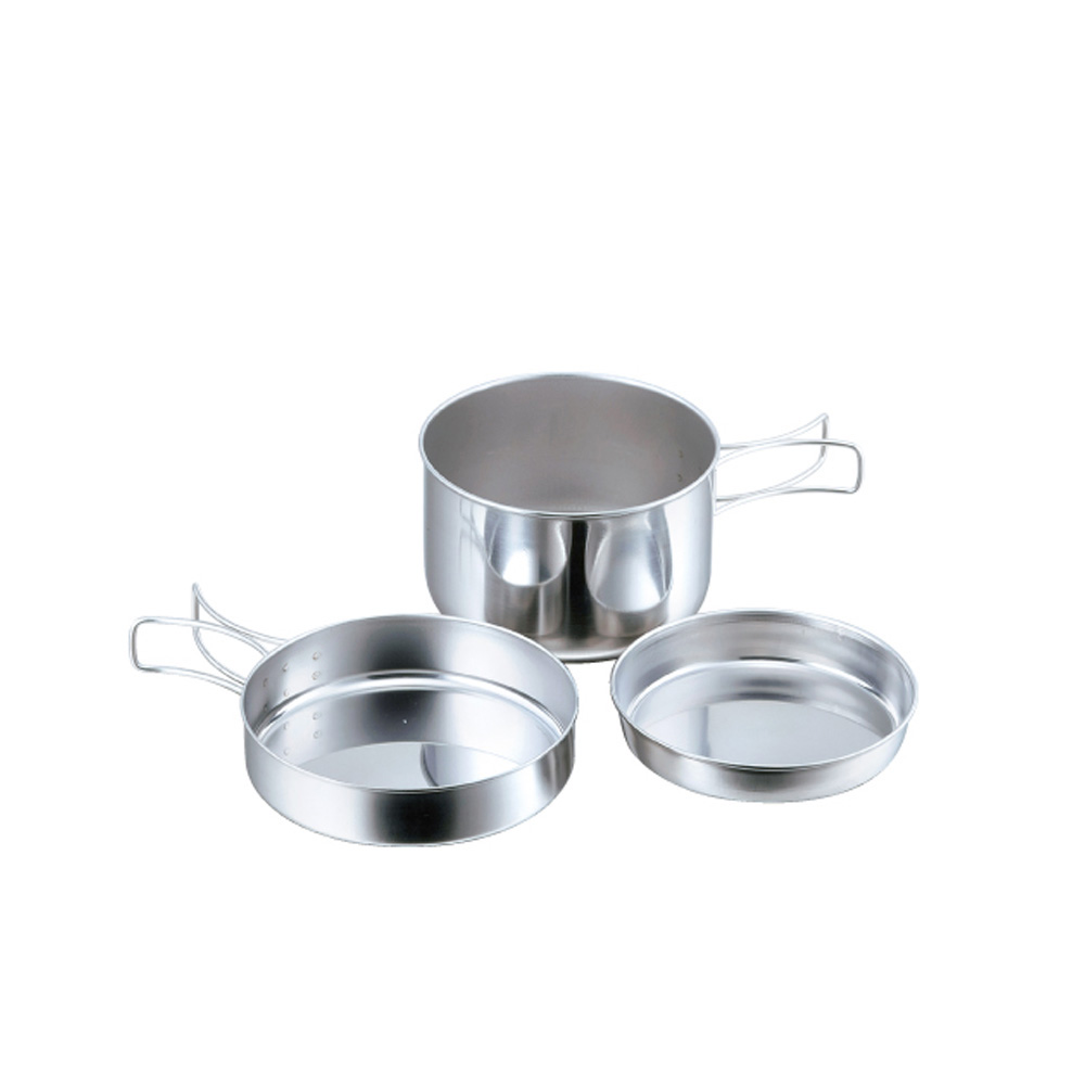 高桑elfin 不鏽鋼碗碟盤3件組(便攜型)