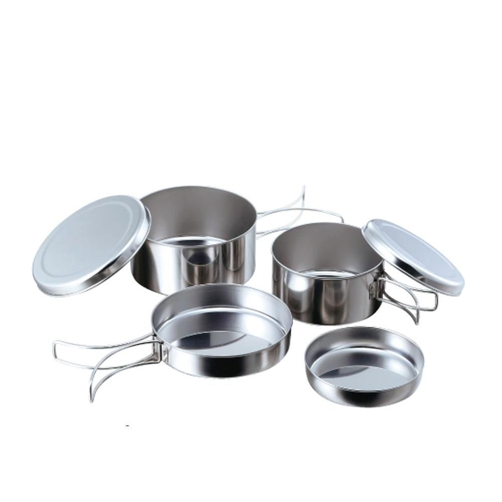 高桑elfin|不鏽鋼碗碟盤4件組(便攜型)