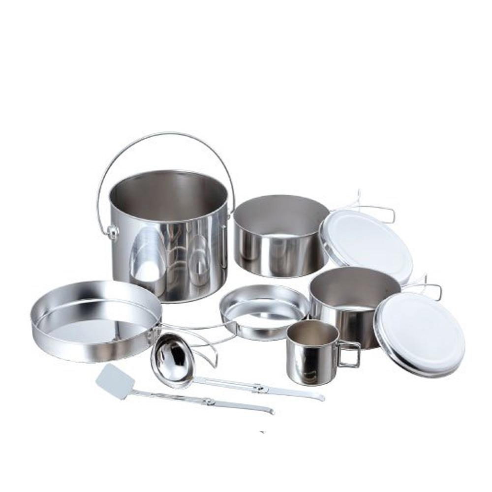 高桑elfin|不鏽鋼料理碗碟盤8件組(便攜型)