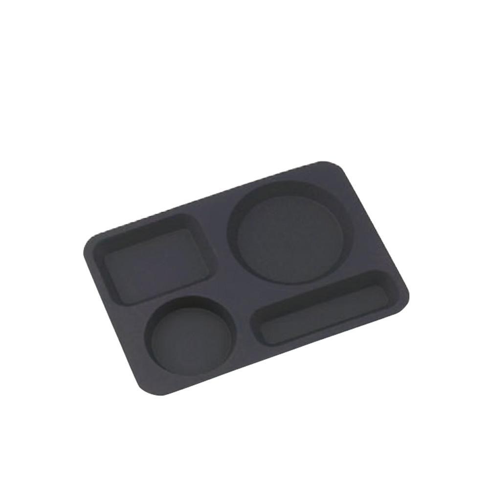 高桑elfin|不鏽鋼咖啡點心托盤-黑