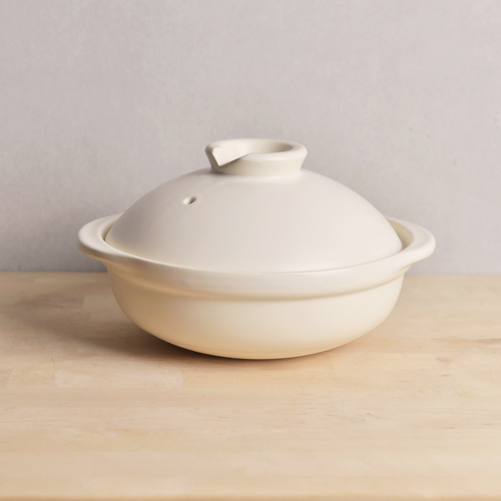 TOJIKI TONYA|萬古燒燉煮土鍋1.8L(3-4人)-白