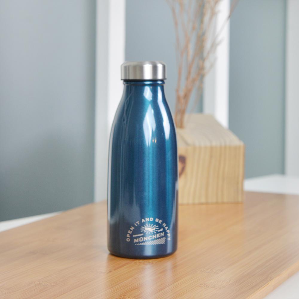 CB Japan|MiDi 城市系列雙層保冷保溫瓶350ml - 金屬藍