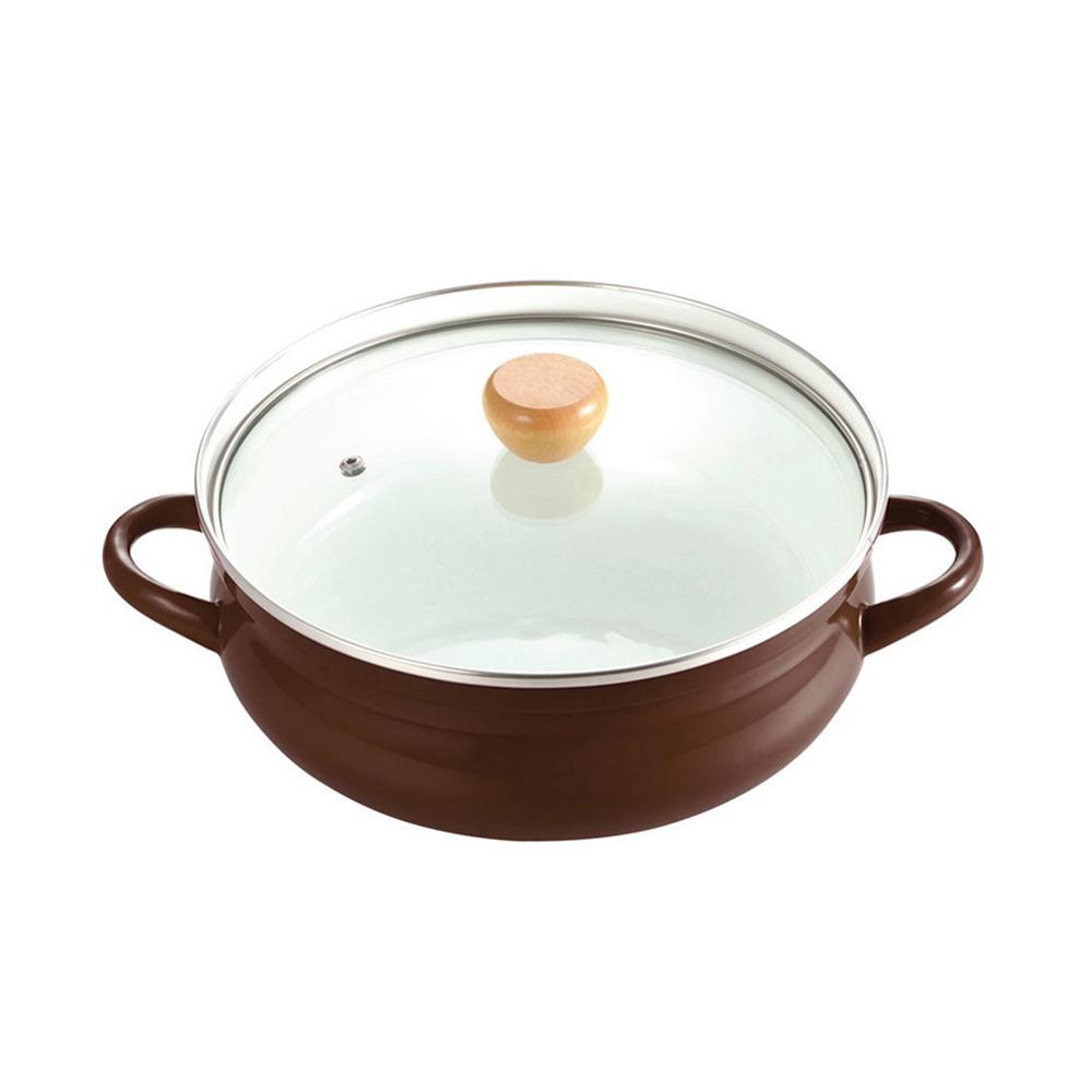 珍珠金屬|琺瑯雙耳鍋(附鍋蓋)