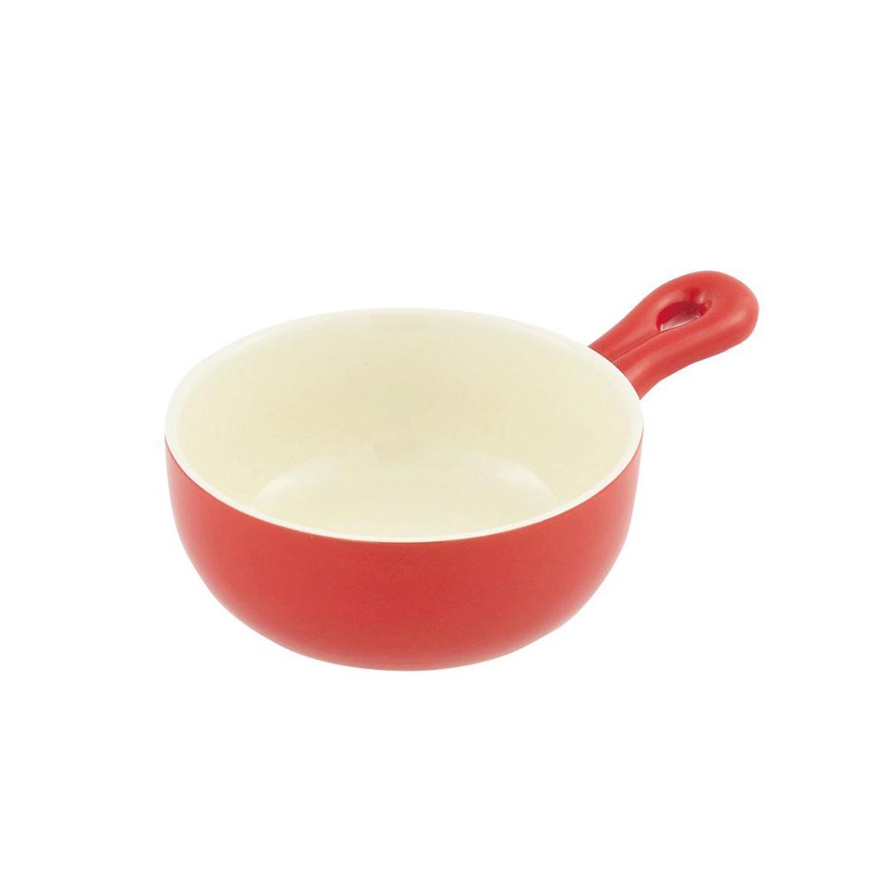 珍珠金屬|片手耐熱焗烤鍋-熱情紅15cm