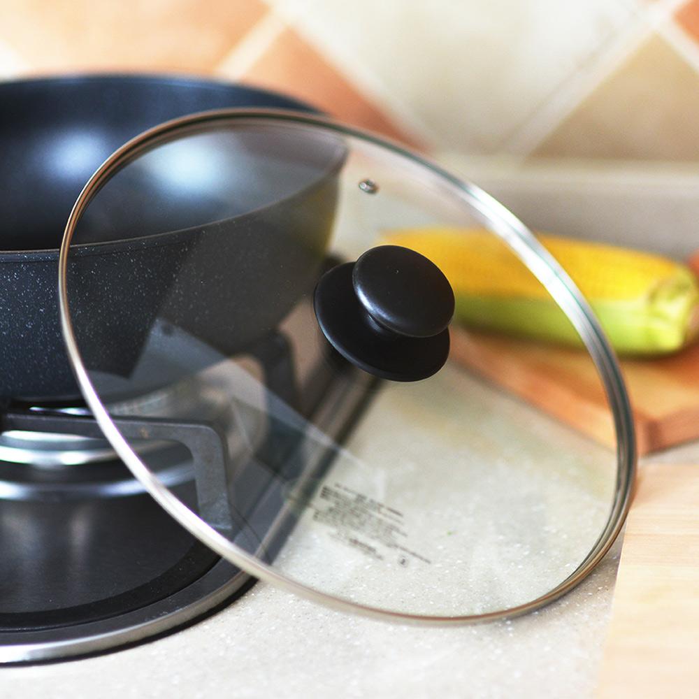 珍珠金屬 耐熱玻璃鍋蓋-30cm