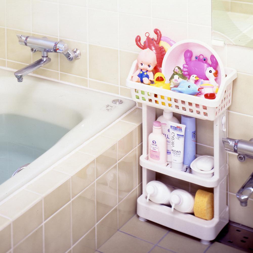 日本ISETO | 浴室斜取置物架-3層